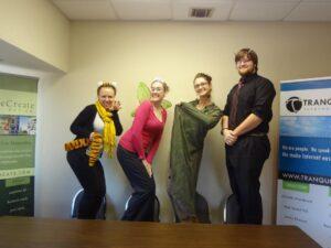 The MayeCreate team dressed up