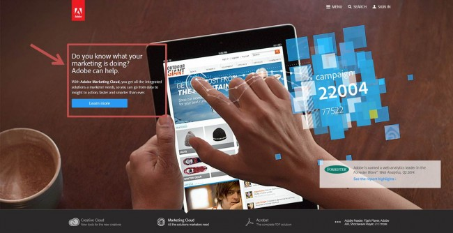 Adobe CTA Example