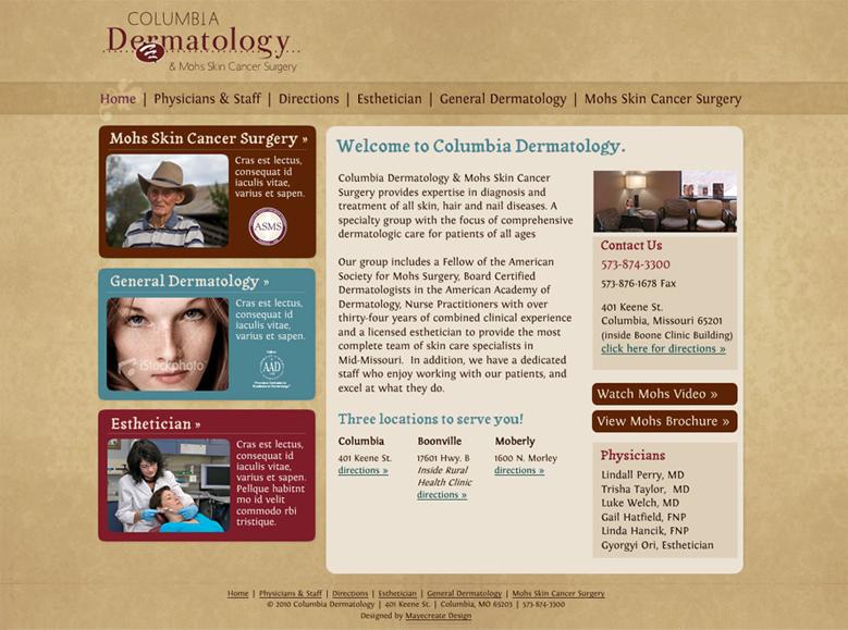 Old Columbia Dermatology Website