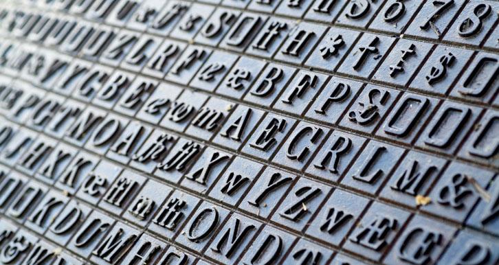 font metal letters